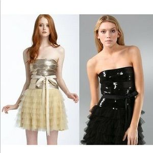 Haute Hippie Sequin Tulle Mini Dress